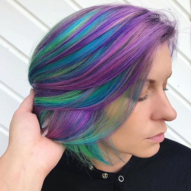 💜💙💚 by @hairchelsea