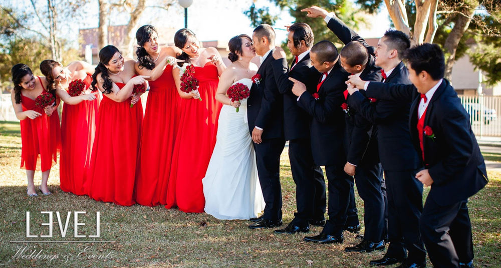 orange county wedding event planner wedding party