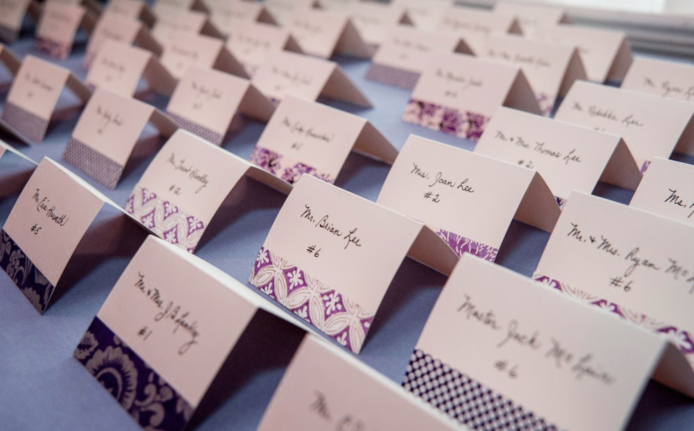 orange county wedding event planner escort cards
