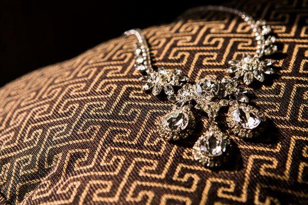 orange county wedding event planner diamond necklace