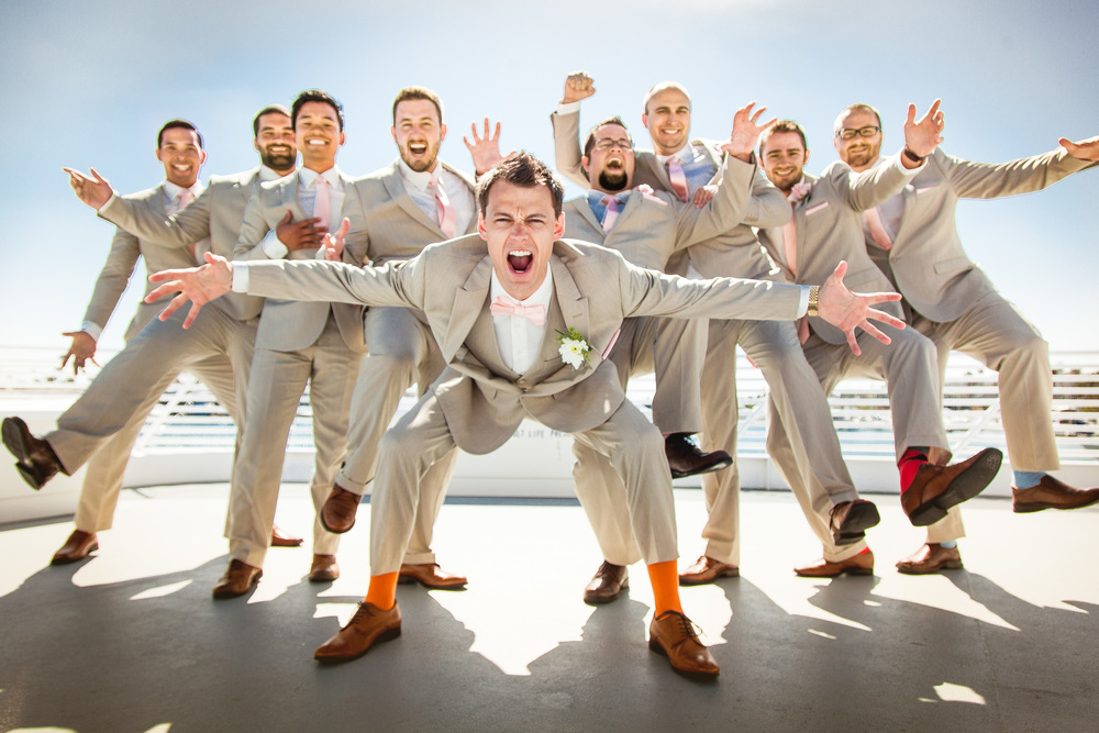 orange county wedding event planner groom with groomsmen
