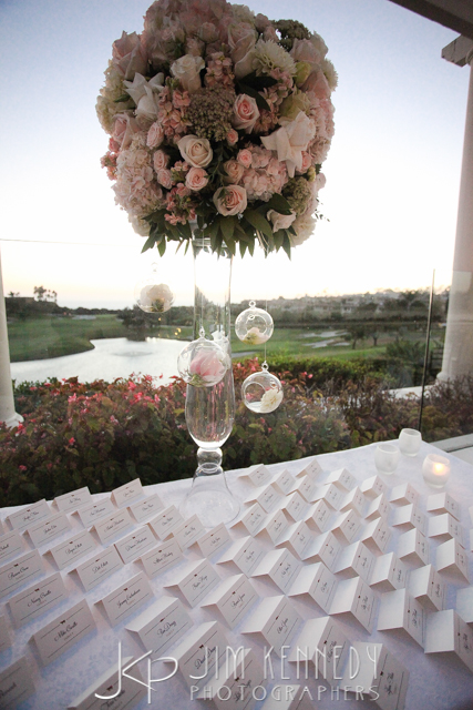 orange county wedding event planner wedding name cards and sunset