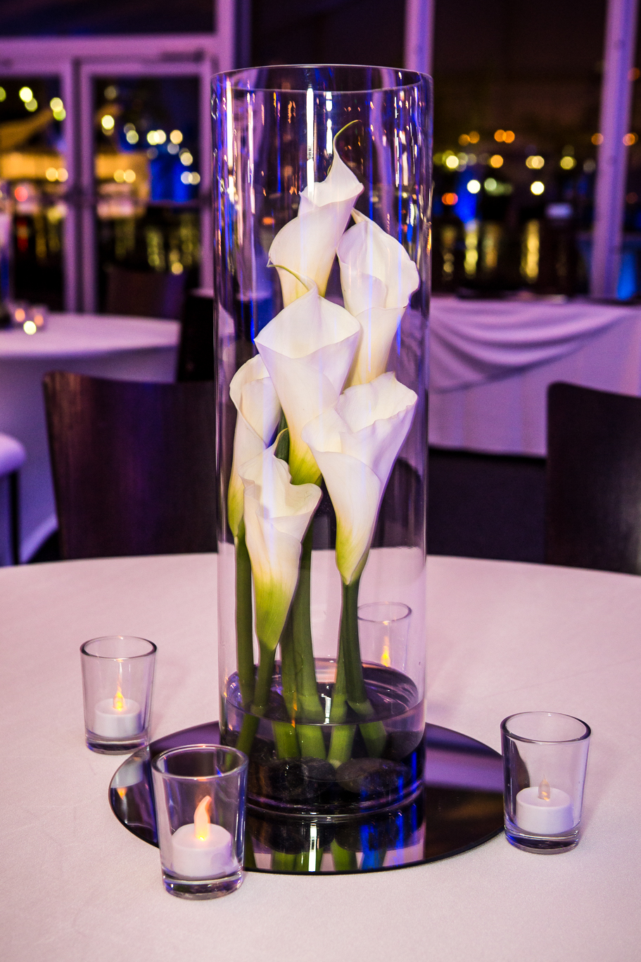 orange county corporate event planner flower centerpieces