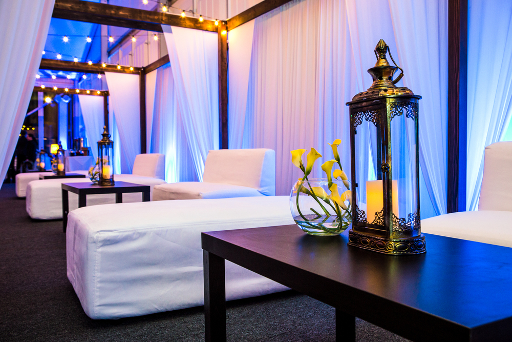 orange county corporate event planner white lounge furniture