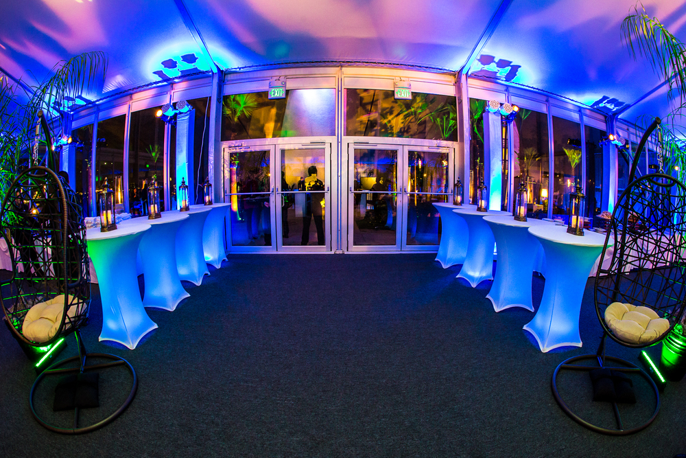 orange county corporate event planner custom uplighting back area