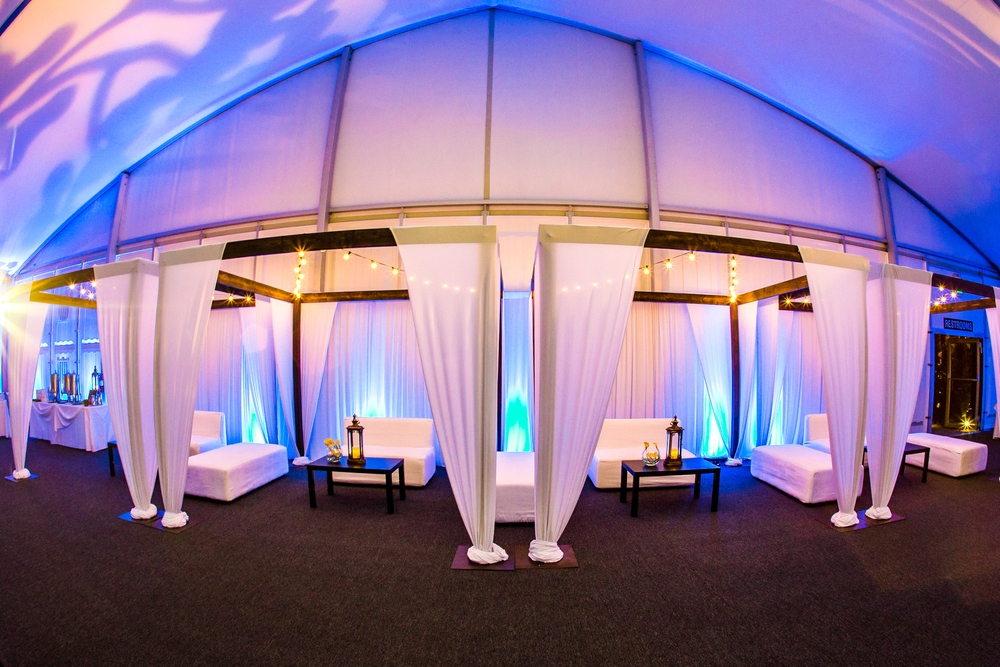 orange county corporate event planner custom wood cabanas with drapery
