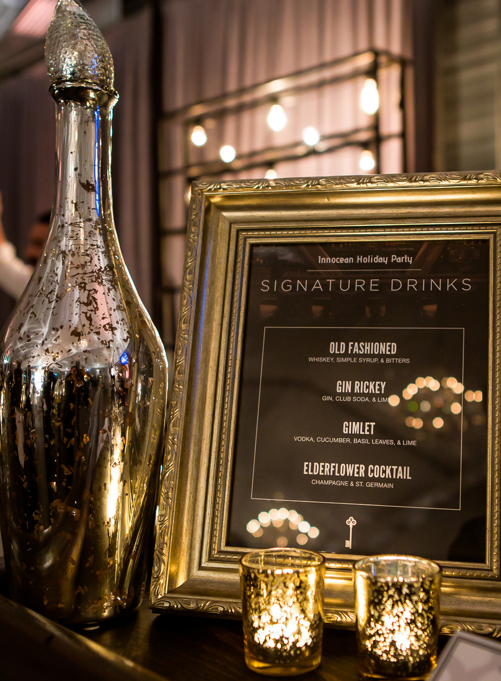 orange county corporate event planner custom drink menu