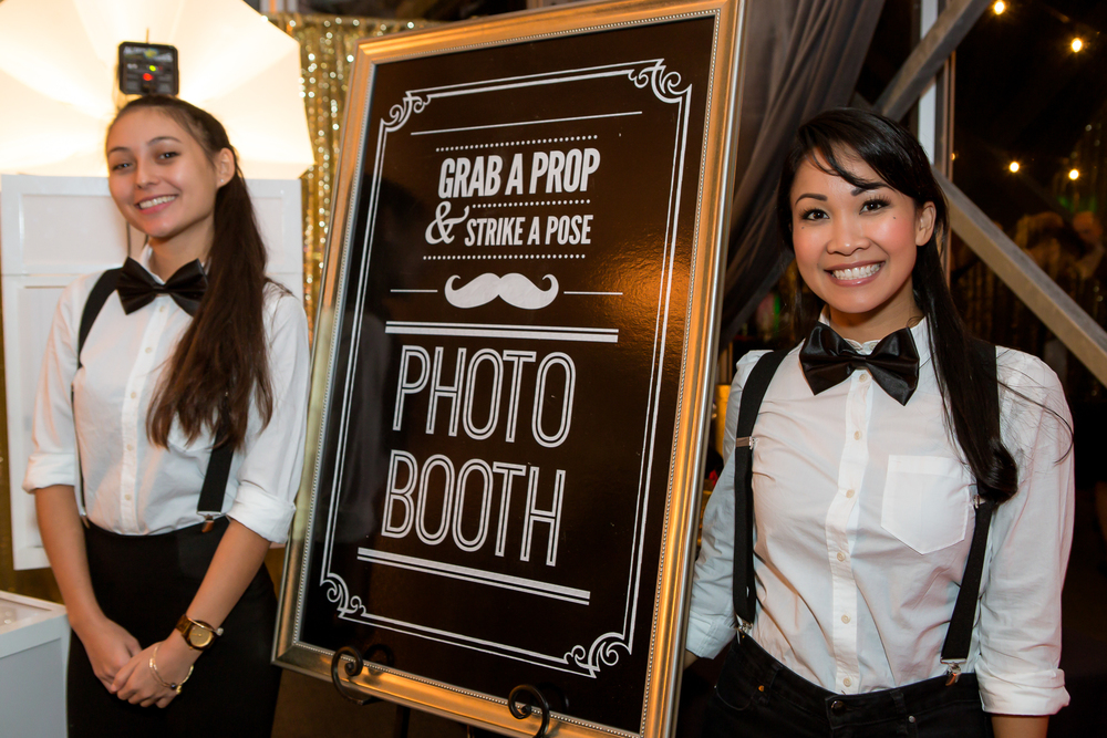 orange county corporate event planner photo booth workers
