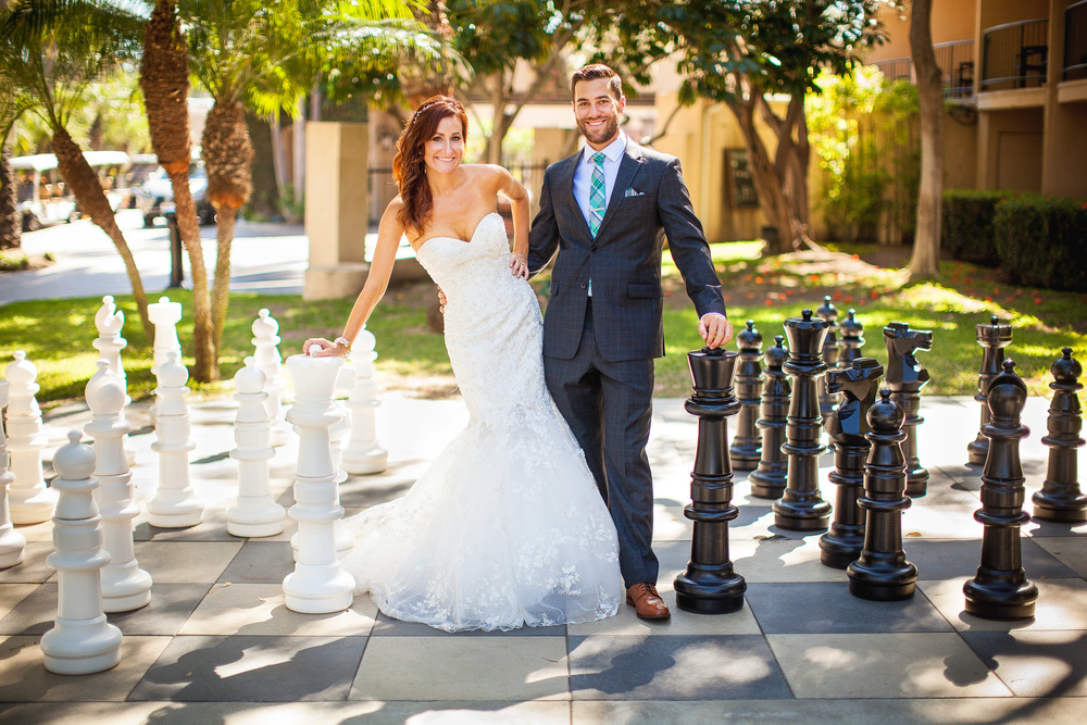 orange county wedding event planner chess set couple