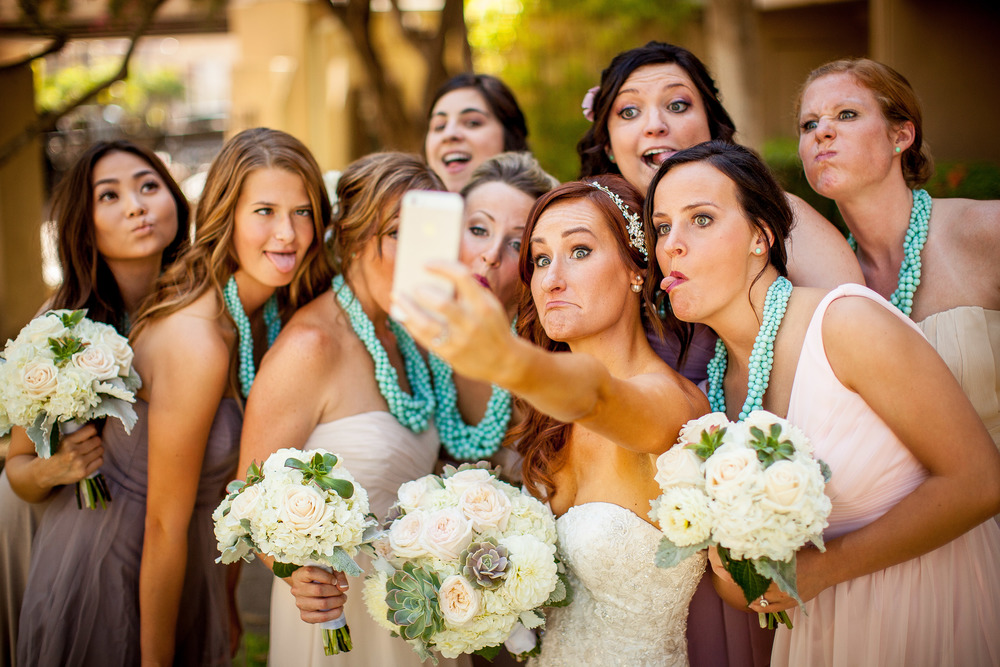 orange county wedding event planner silly bride selfie