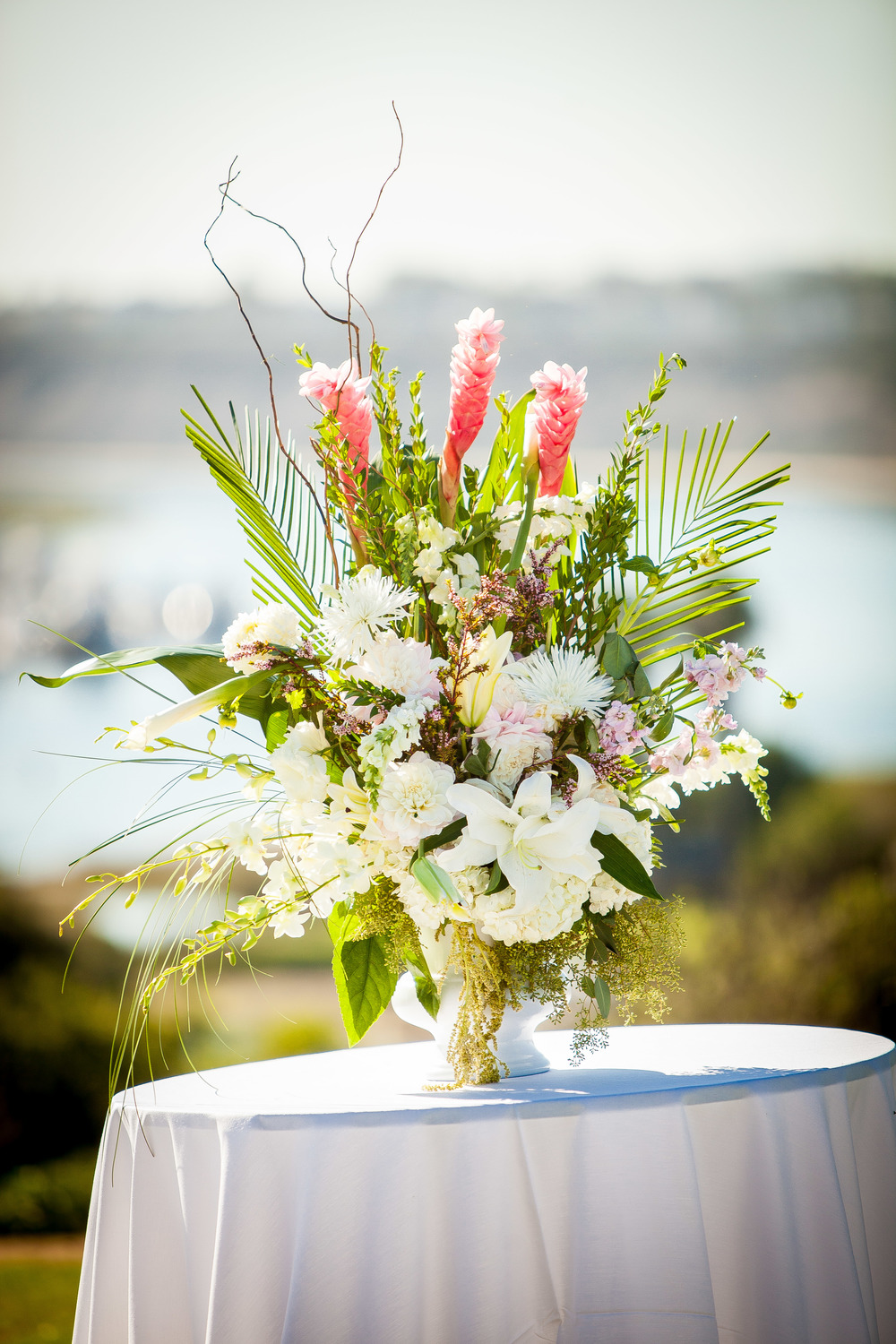 Newport Beach Marriott Wedding Planner tropical floral