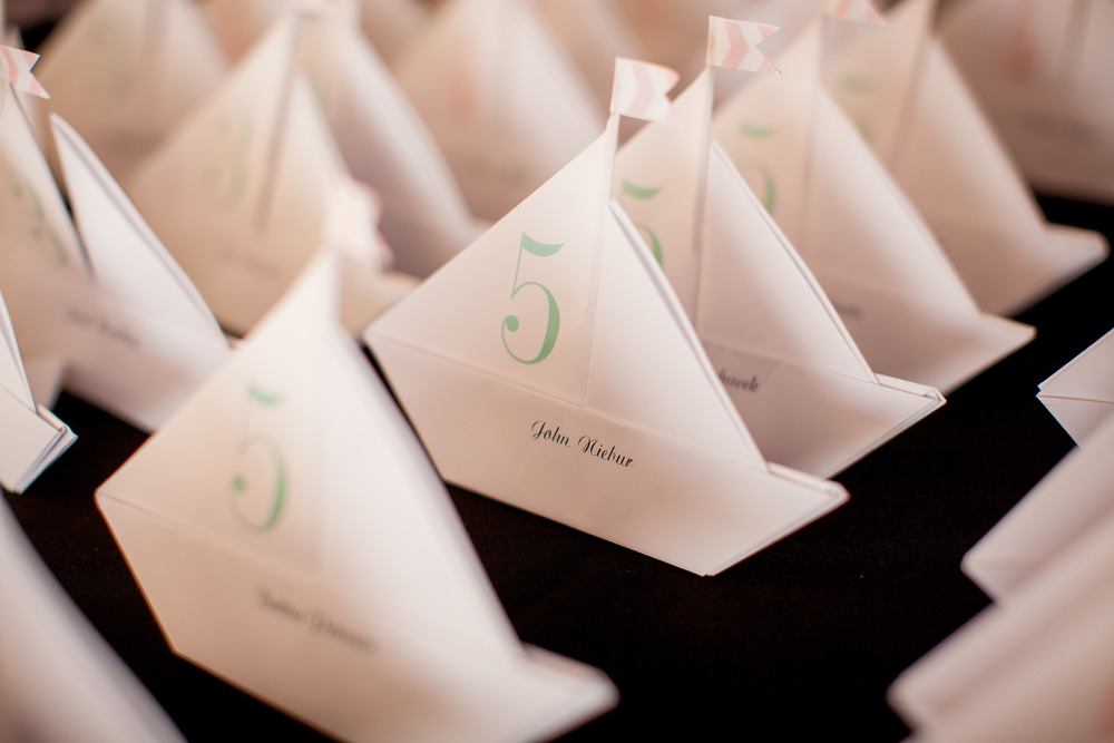 orange county wedding event planner boat table numbers