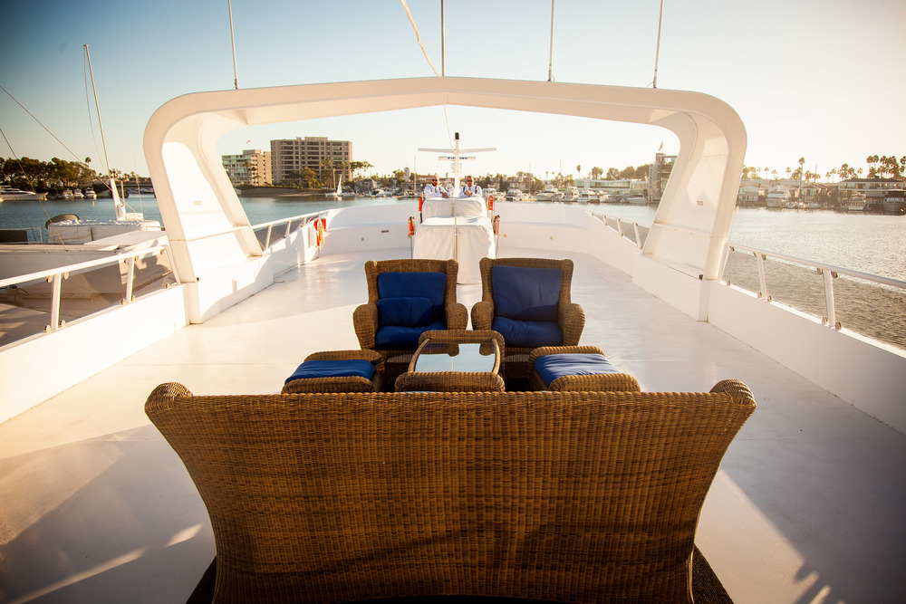 orange county wedding event planner yacht seating