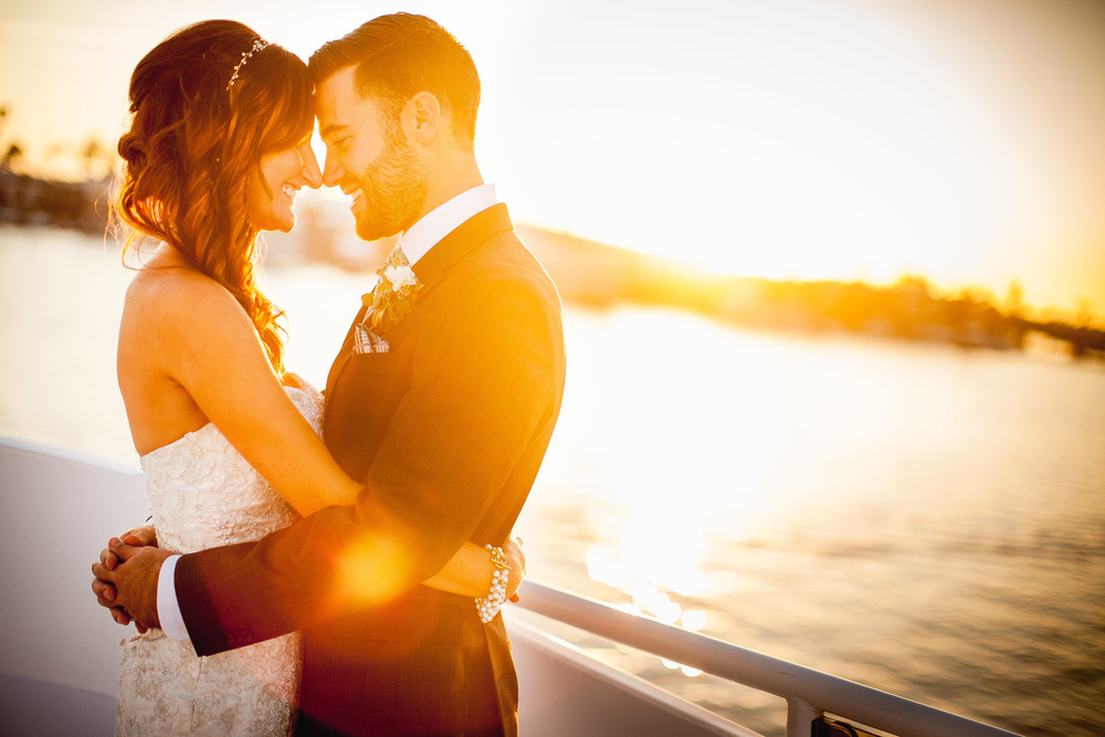 orange county wedding event planner sunset pose