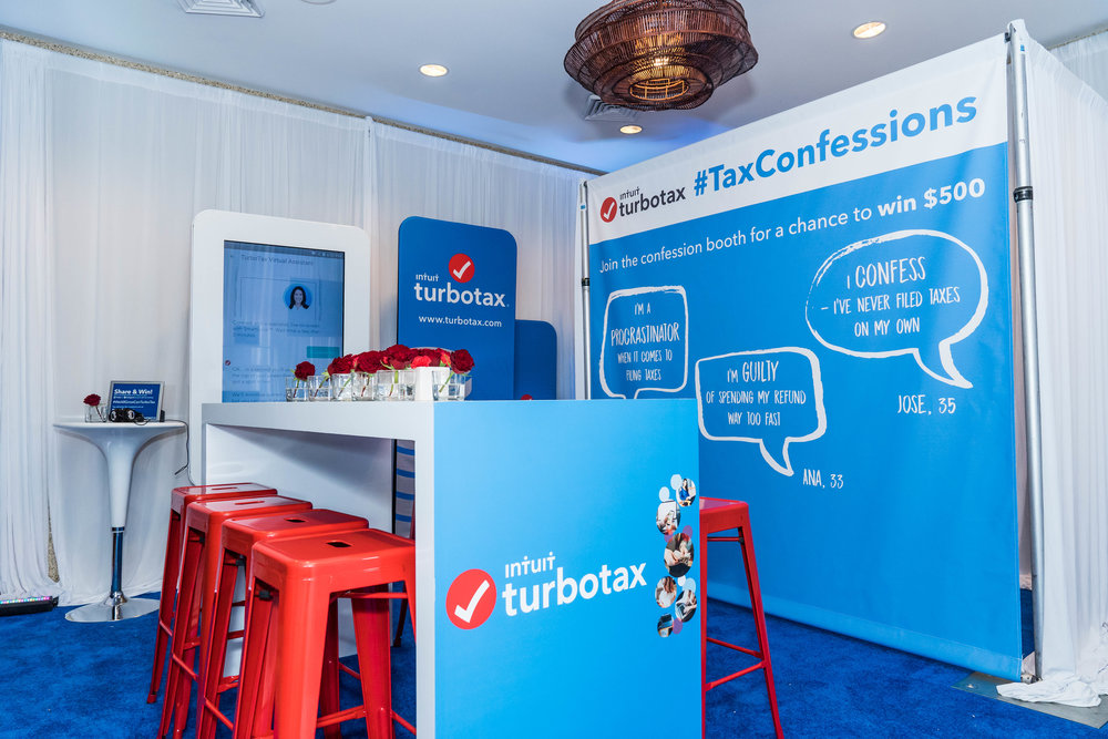 Turbo Tax Corporate Event Custom Build Out