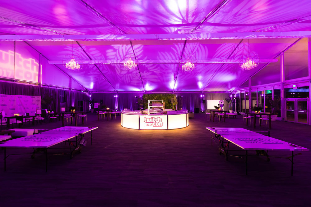 Corporate Event Custom Branded Bar for Twitch Con After Party