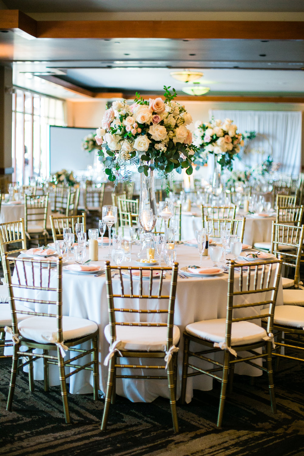 wedding reception floral design