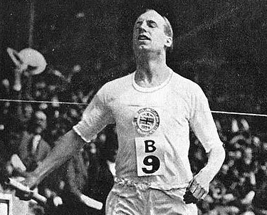 Eric Liddell (image cropped) By unknown (Sports event handout)[1] [Public domain], via Wikimedia Commons