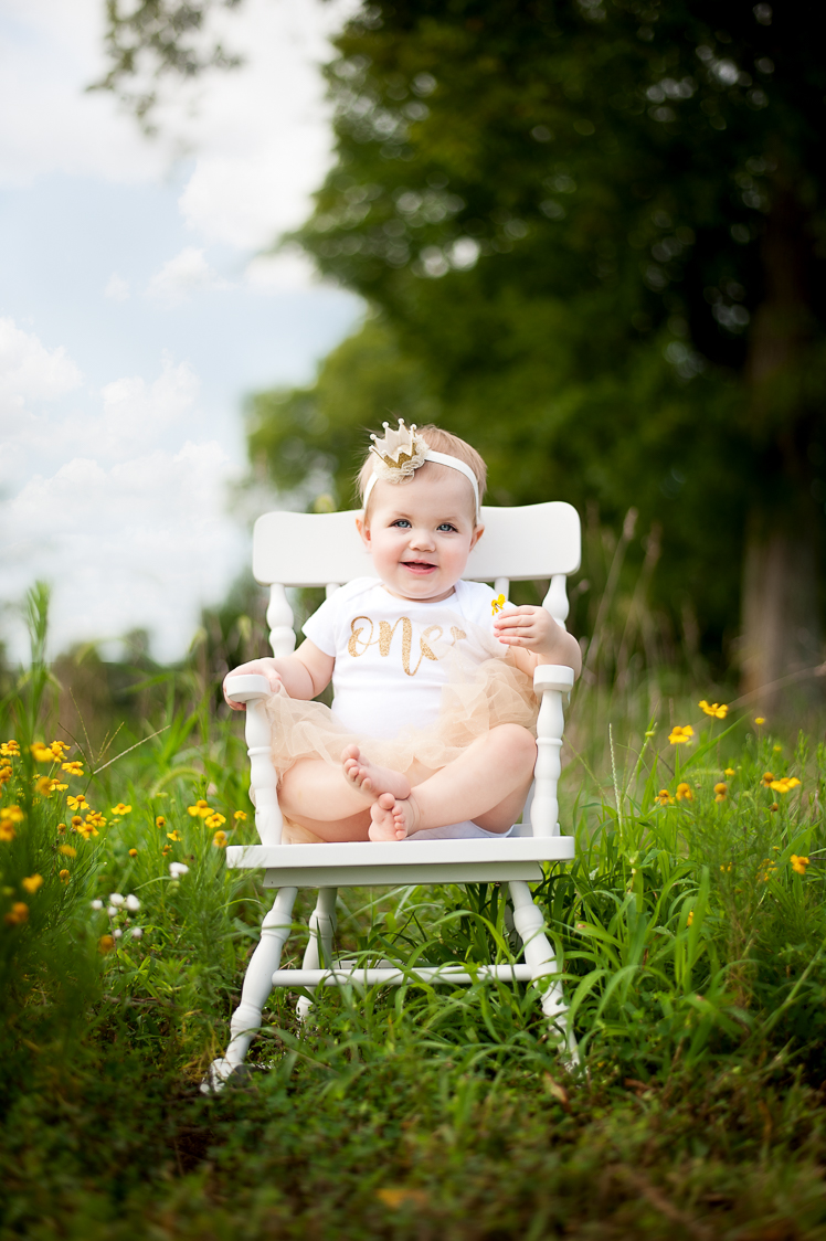 First birthday session with AluraWayne Photography in Brentwood, TN.