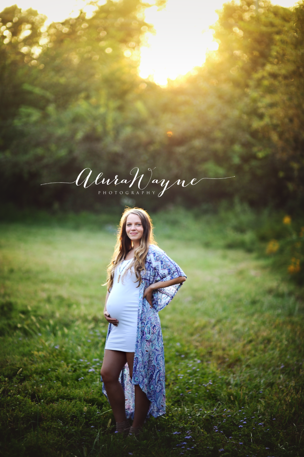 outdoor nashville tn maternity portrait