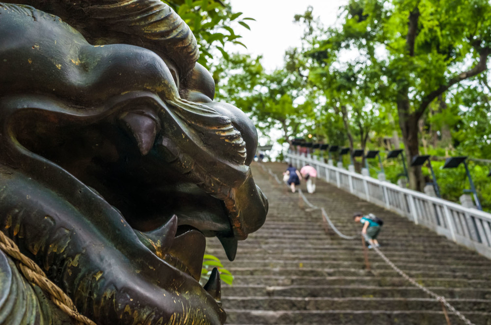 The stairs up to Atago shrine