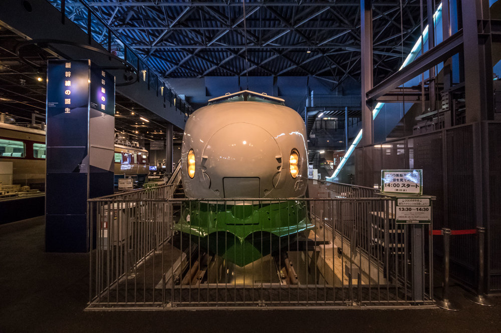 They even have a Shinkansen (bullet train) at the Railway Museum, unfortunately it isn't full-length