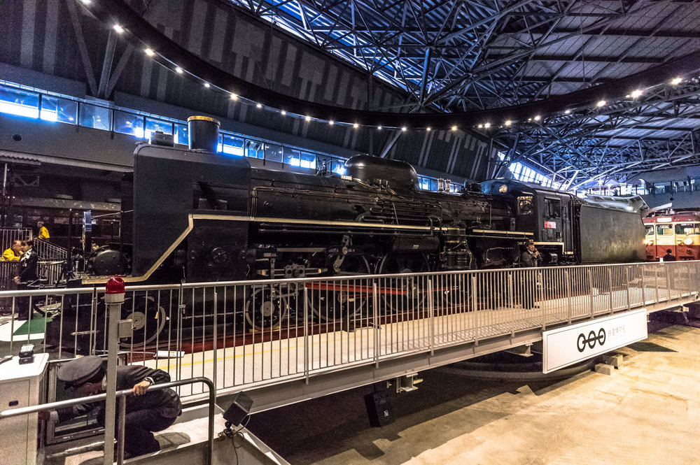The A Class C57 No. 135 steam locomotive which is the centrepiece of the Railway Museum