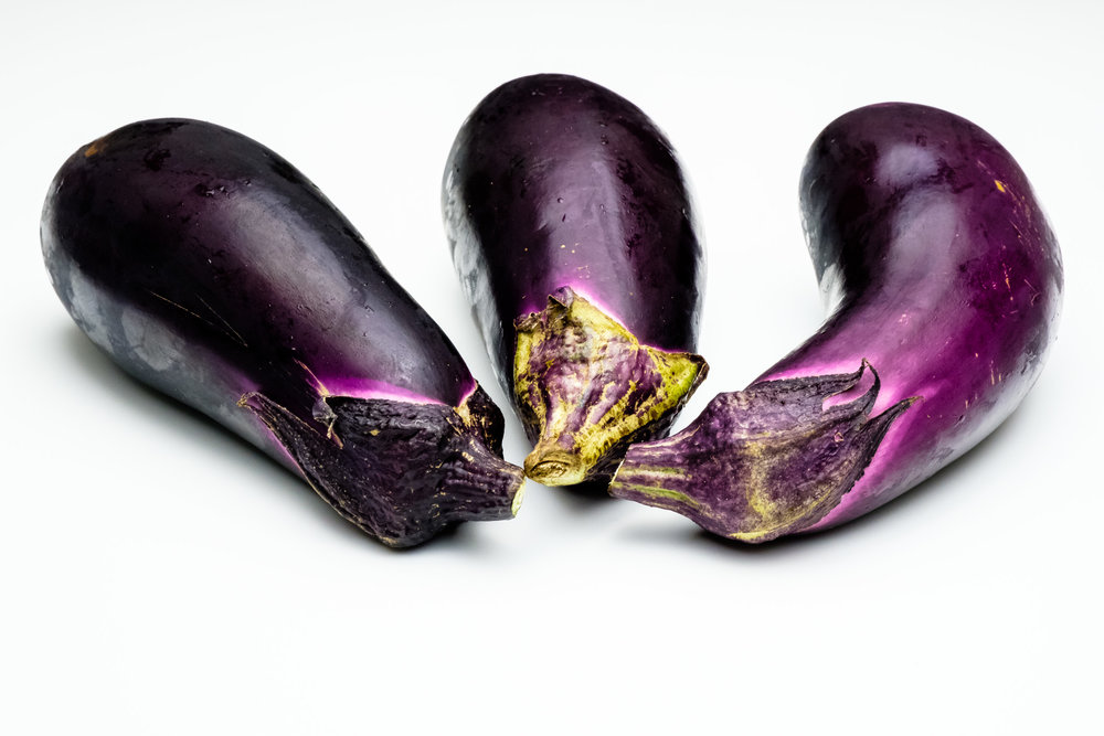 Eggplants from the shops