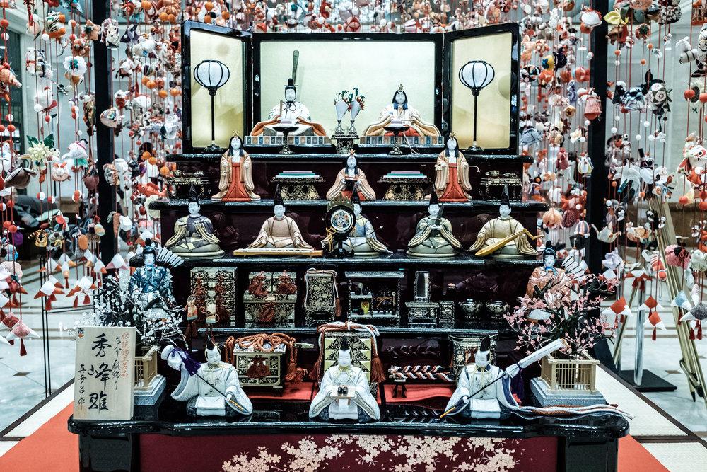 The Emperor and his Empress at the Hinamatsuri in Shinjuku