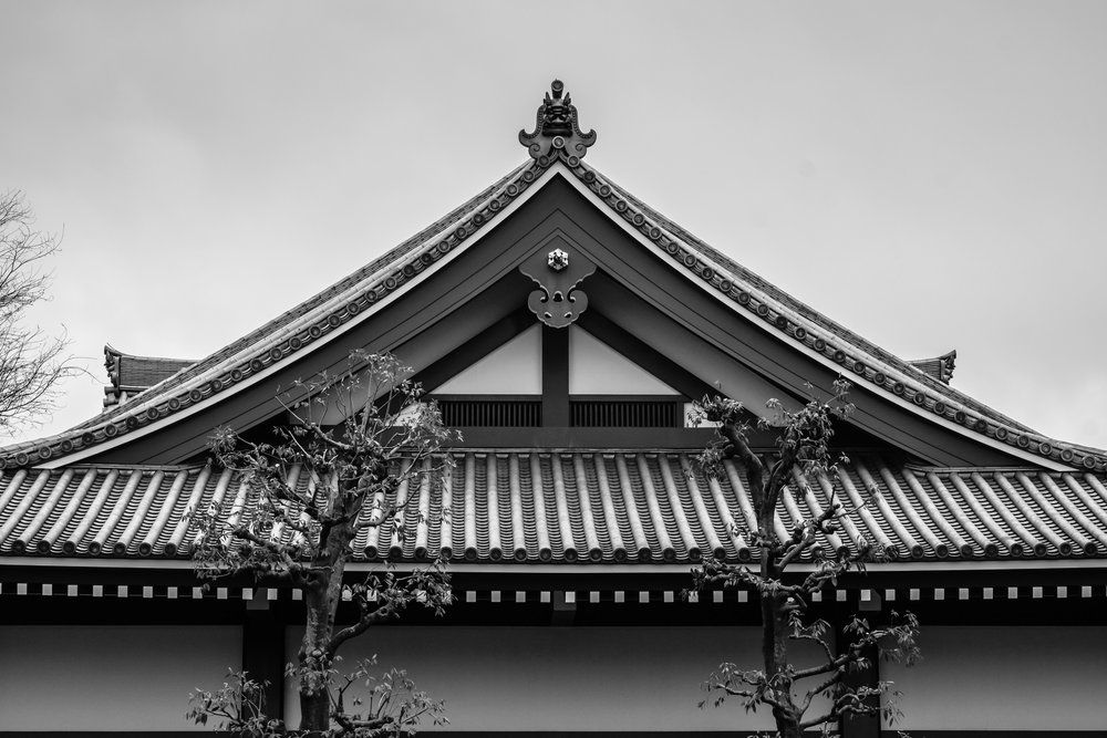 There isn't much better than traditional Japanese rooftop architecture