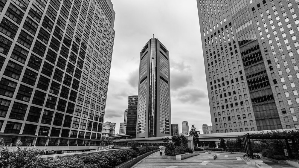 The area around Shinbashi has lots of skyscrapers in it