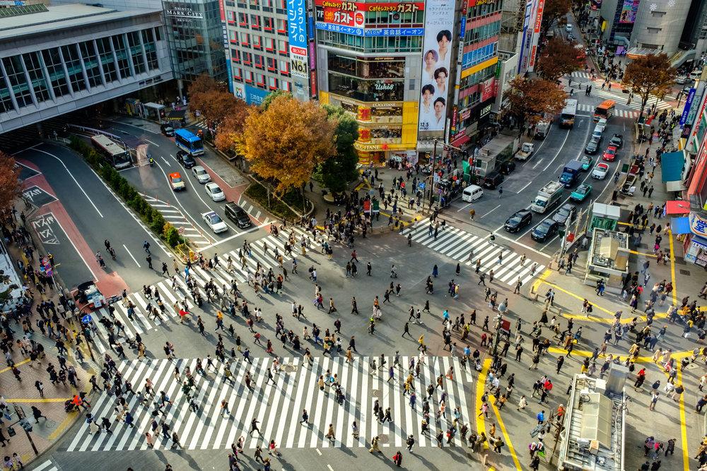 Shibuya Crossing on a weekday