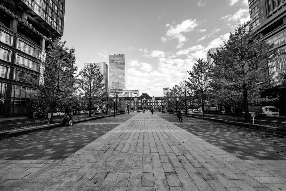 A long time ago the Emperor drove down this road to Tokyo Station to get his train