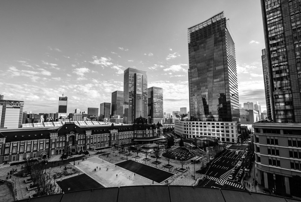 From the Shin-Marunouchi Building - Tokyo Station and the KITTE Building