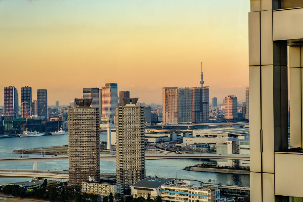 You can see Tokyo Skytree, but the view of it isn't the best