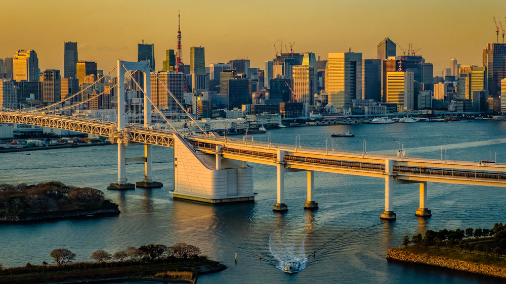 Tokyo Bay always looks great at sunset