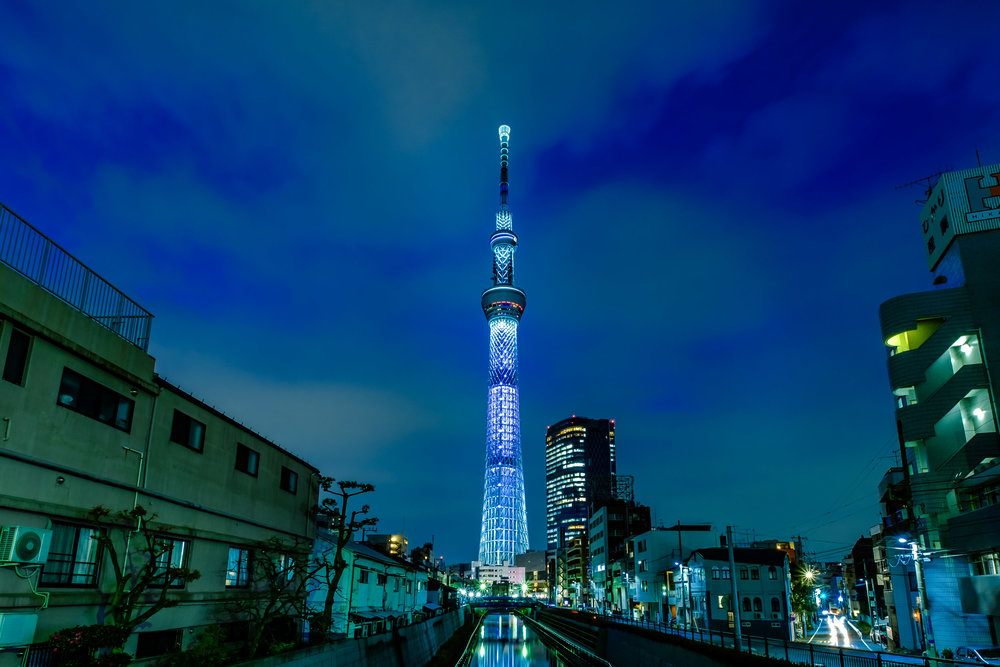 Tokyo Skytree from Jikken Bridge (the cropped version)
