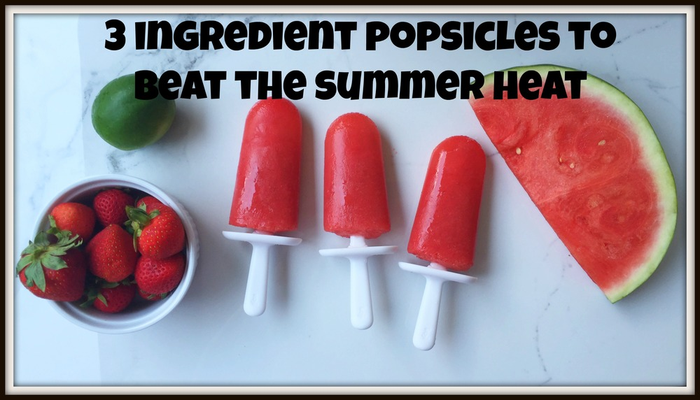 Three ingredient & healthy popsicles that taste just like the ones from the ice cream truck? Kids love these!!!