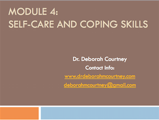 This three-hour workshop will:  Expand on the  importance of self care that was briefly presented in previous workshops. It will focus on the impact trauma can have on social service professionals and how to take care of oneself! Parallel processes and vicarious trauma will be explained.  Practical self care skills, including creating healthy boundaries and grounding exercises will be explained and practiced.
