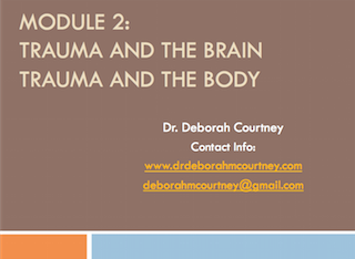 This three-hour workshop will:   Provide staff with the knowledge of how traumatic experiences impact the brain and body.  The development of neural networks, including negative cognition development, stuck fight or flight responses, and emotional storage in the body will be explained.  Further, the impacts of this process (including triggers, behavioral and relational issues and physical health issues) will be explained. Reflective exercises will be facilitated in order to help staff understand these processes on a deeper level. Concrete skills will be built upon including helping staff reframe some of the challenges they face when working with clients (based on understanding their negative cognitions, triggers, and histories). Self care and supporting each other will again be emphasized.