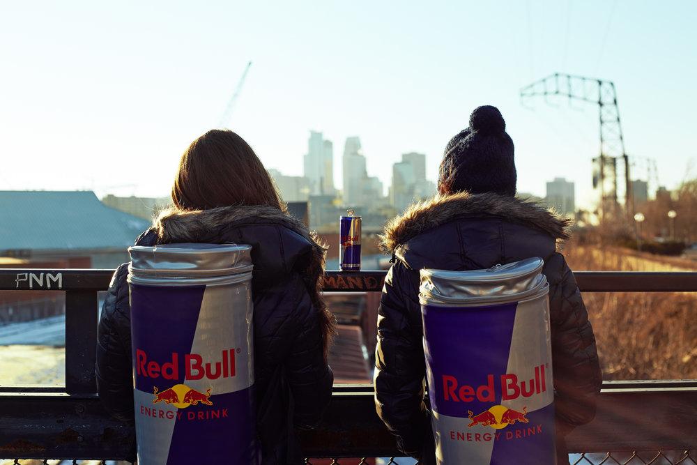 Iconic RedBull™ Wings Team shot overlooking the Minneapolis Skyline.