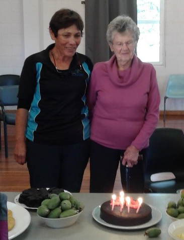 We were particularly blessed recently to be able to share in the celebration of Coralie's 95th birthday… not the norm at classes!