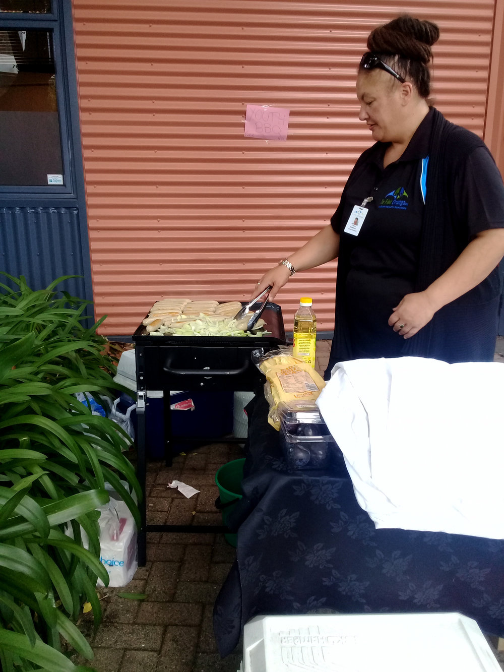 Tanya Tauwhare of Te Piki Oranga loves feeding the rangatahi at the library with some healthy kai.