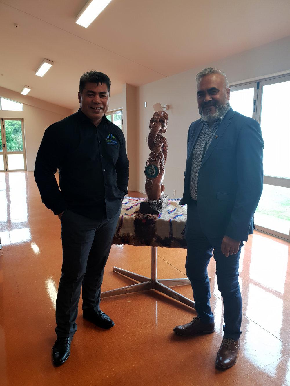 Te Pou Taki Sonny Alesana and Board Member Kereopa Ratapu