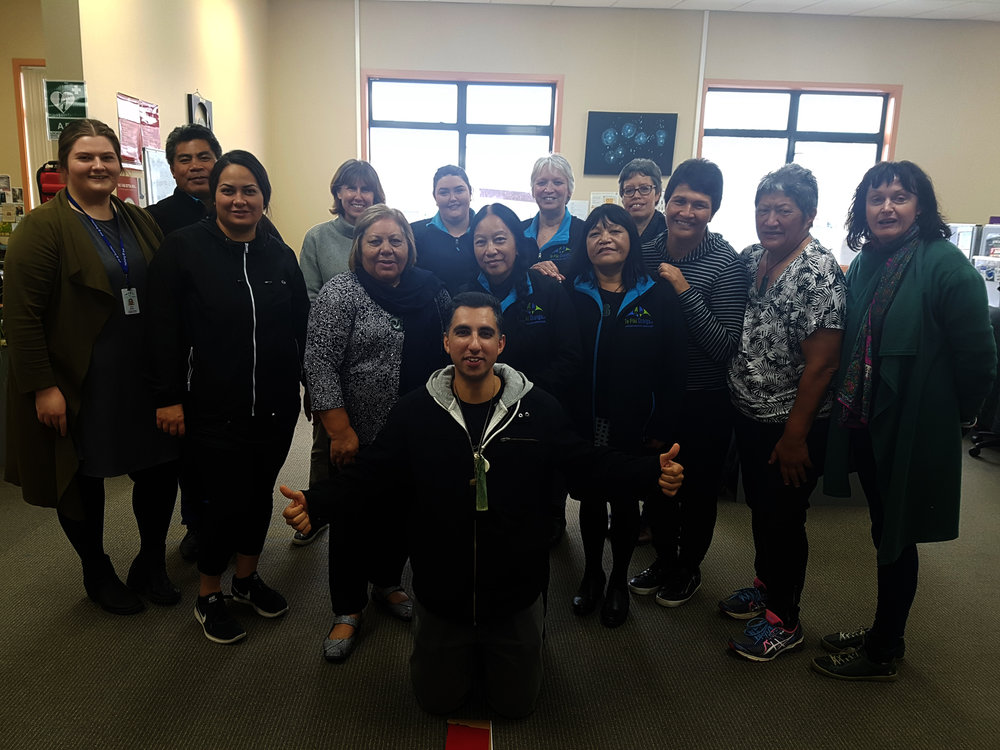 F awad Shah and the team at Blenheim/Wairau on his last day at Te Piki Oranga and New Zealand.