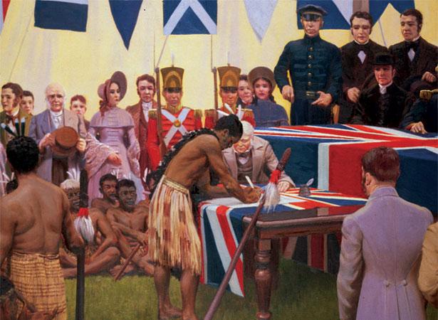 February 6, 1840 signing of the Treaty of Waitangi