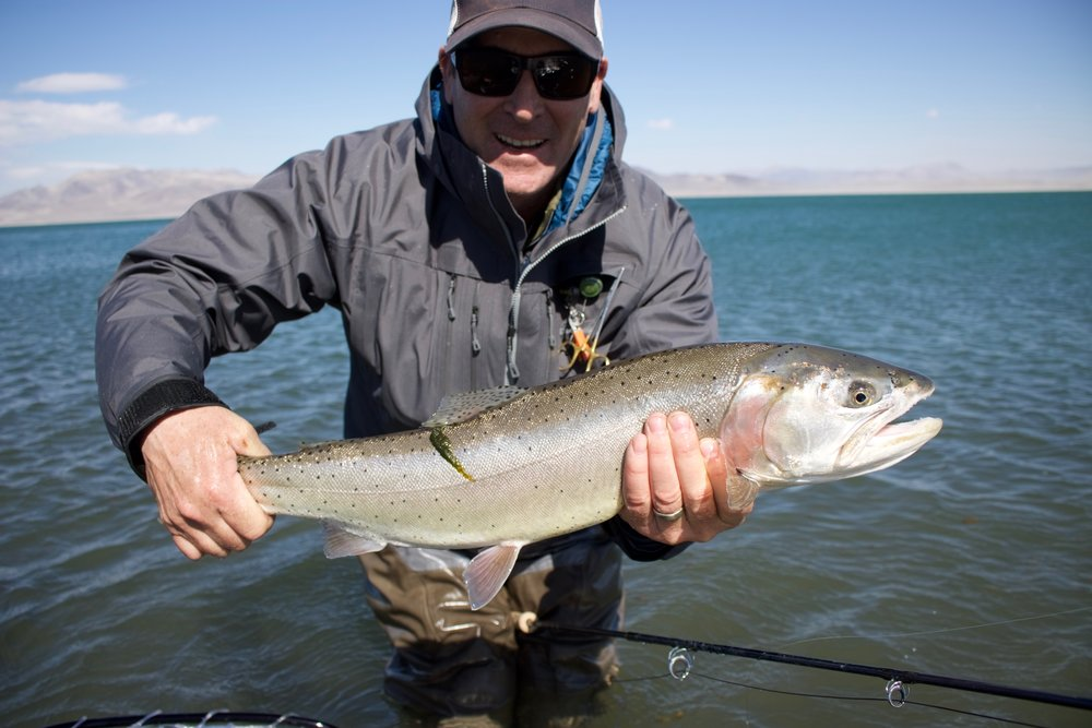 Aaron Silverman with a chrome Lahontan.