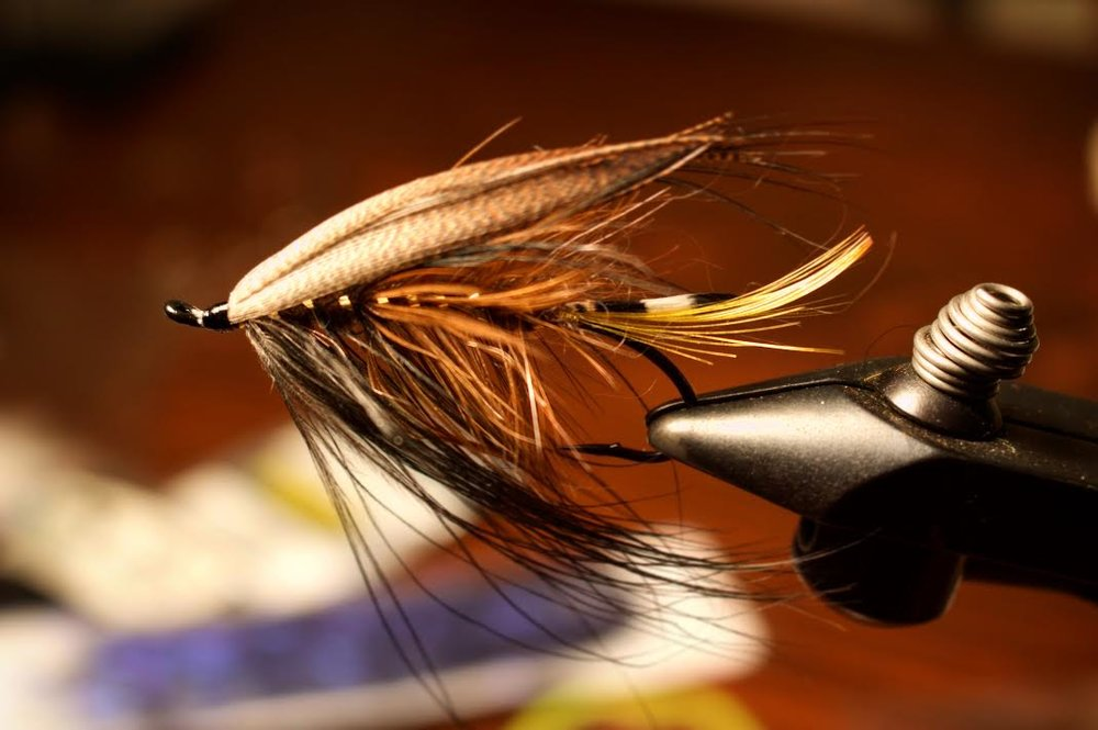 The Timberjack Spey. So named for the roadside motel where it was tied.