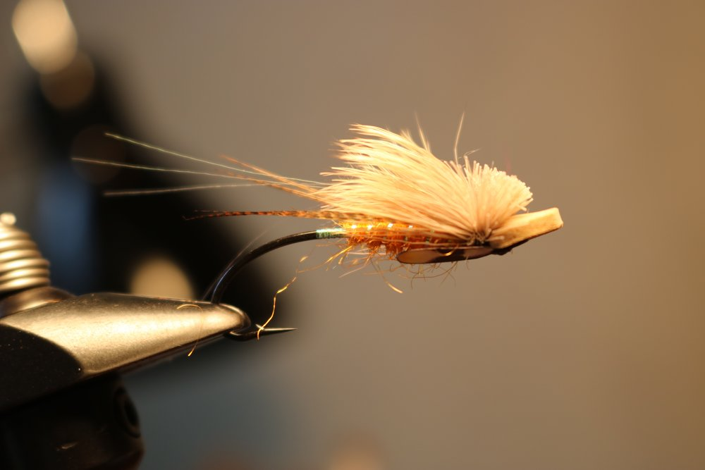 Brett's Klamath Skater. A perfect surface fly for the Trinity River.