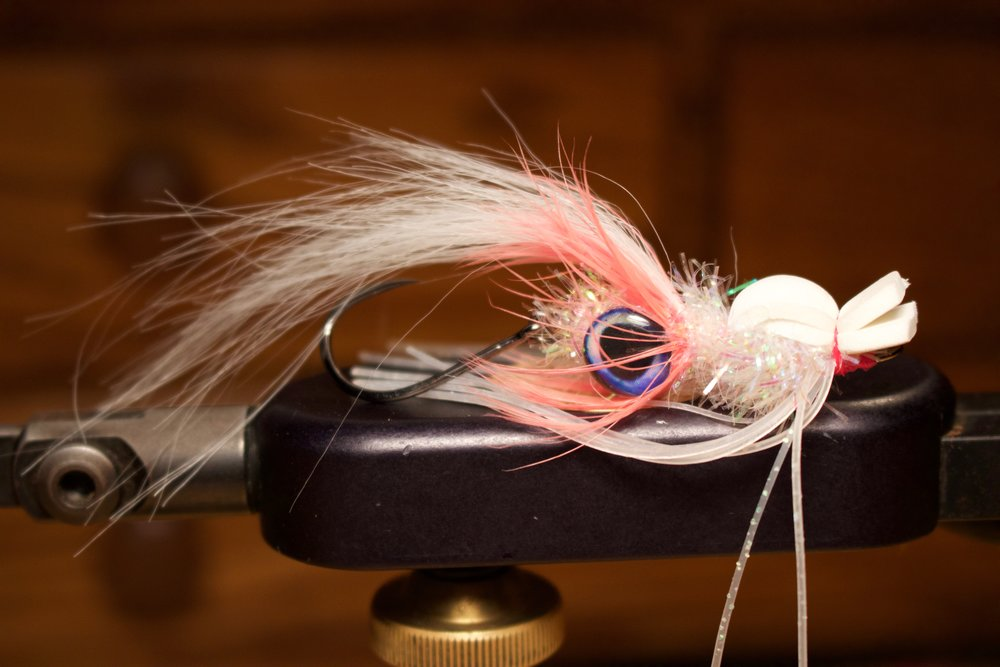 Squid Popper variant in white and shrimp pink.